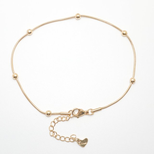 """304 Stainless Steel Anklet Gold Color 23.3cm(9 1/8"""") long Snake Chain Anklet For Women Foot Bracelets Jewelry 2021 Trend,1 Piece 4"""