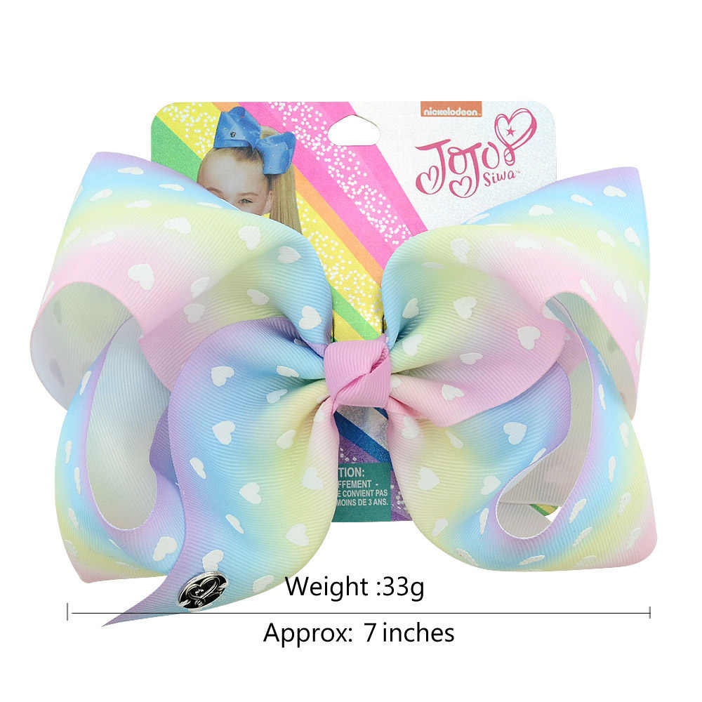 JOJO SIWA 3 PCS//Set Girls Baby Bow Sequins Unicorn Printed Ribbon Bow Hair Clip