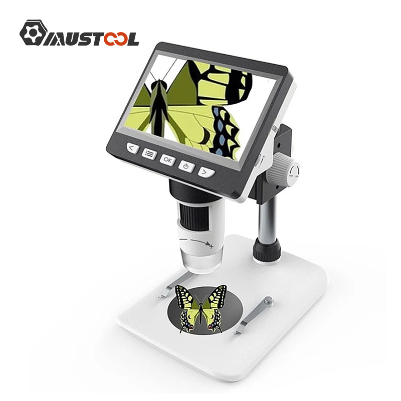 MUSTOOL G700 1000X Digital Microscope 4.3 Inches HD 1080P LCD Electronic Video Microscope Soldering Phone Repair Magnifier Tool