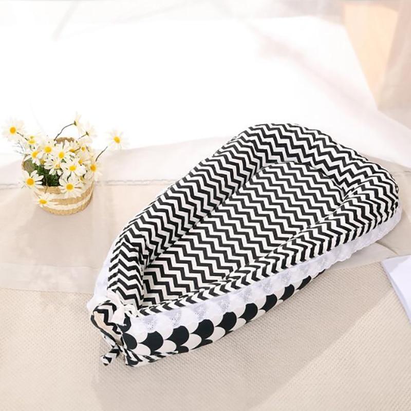 Travel Crib Baby Bed Mattress Sleeping Basket Soft Cotton Nest Portable Crib Bedding Pillows Outdoor Kids Nursing YAN007