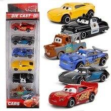 6 pçs disney pixar carros brinquedo ação figuras 3 relâmpago mcqueen modelo carro 1:55 diecast veículo liga de metal carro dodson presente