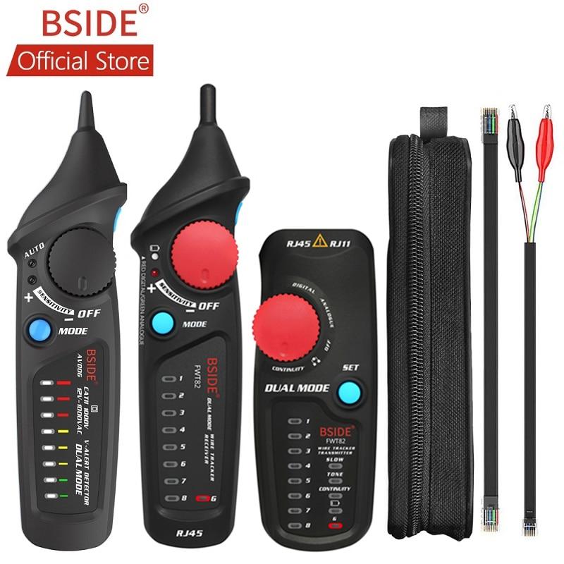 BSIDE FWT82 Digital Mode Network Cable Tracker Wire Toner RJ45 RJ11 Ethernet LAN Tracer Analyzer Detector Line Finder with AVD06