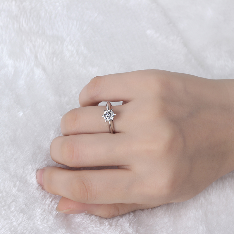 clássico diamante jóias moissanites anel de festa