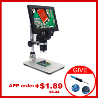 KKMOON G1200 12MP 1 1200X Microscope Digital Microscope for Soldering Electronic Microscopes Continuous Amplification Magnifier