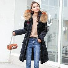 Winter Long Parkas women Velour Soft warm thick jackets coat Big fur collar hooded outwear plus size M-3XL