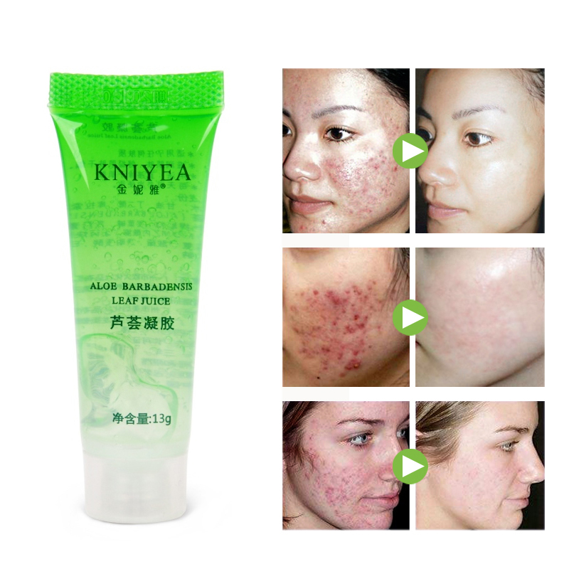 1pcs Natural Aloe Vera Gel Face Moisturizing Smoothing Cream Acne Remover Sunscreen Acne Treatment Facial Skin Care Base Primer