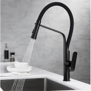 Kitchen Faucets ChromeBlack Pull Out Kitchen Faucet Tap Single Hole Rotating Sink Faucet Water Mixer Tap Mixer Tap