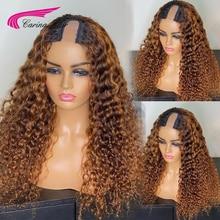 Парик Carina с U-образным вырезом, парики блонд из человеческих волос с эффектом омбре для женщин, 200% бразильские волосы без повреждений, размер...