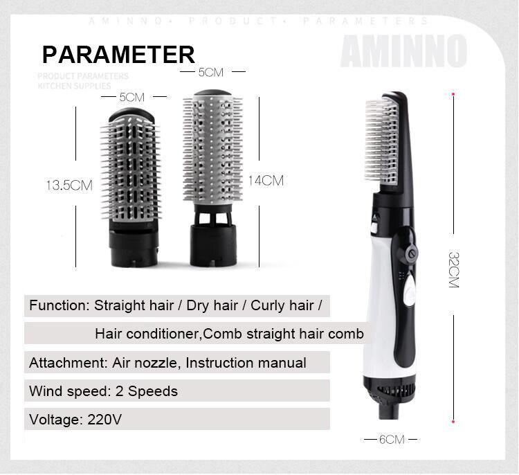 secador de cabelo uma etapa curlable seco