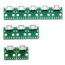 10 adet mikro USB DIP adaptörü 5pin dişi konnektör B tipi PCB dönüştürücü Breadboard anahtarlama paneli SMT anne koltuk