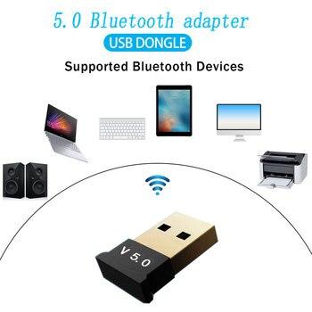 V 5,0 беспроводной Usb Bluetooth адаптер Bluetooth ключ музыкальный приемник адаптер Bluetooth Zender для рабочего стола Win 10|Беспроводные адаптеры|   | АлиЭкспресс