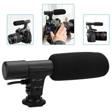3.5mm Stereo Mini VLOG Photography Microphone Directional Interview Recording Mic for DV Digital SLR Camera Camcorder Recording