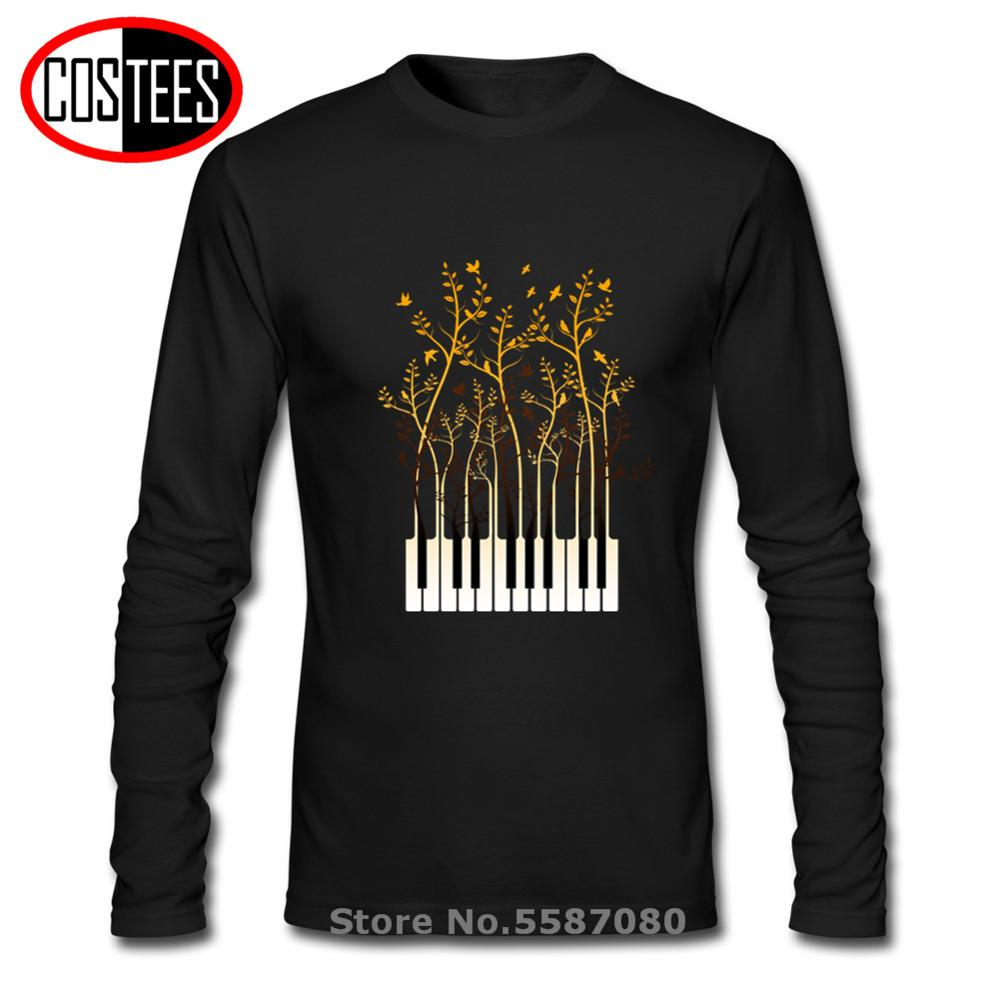 Creative Design Composer Music Note Piano Pianist Men DJ Thanksgiving Day Custom Party Team Full T Shirt Male Tshirt Guitar Tees image
