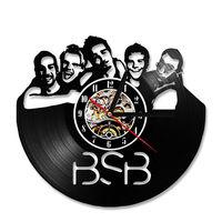 Backstreet Boys Wall Clock Modern Design Creative 3D Clocks Hanging Vintage Retro Style Classic Vinyl Record Wall Watch 12 inch