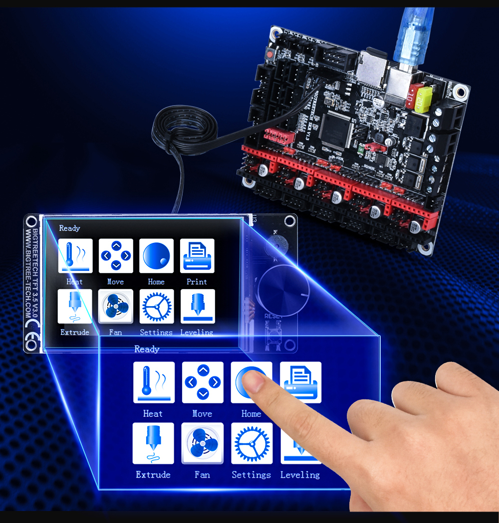 BIGTREETECH TFT35 Touch Screen for 3D Printer Supports SD Card and U-Disk Printing Mode 18
