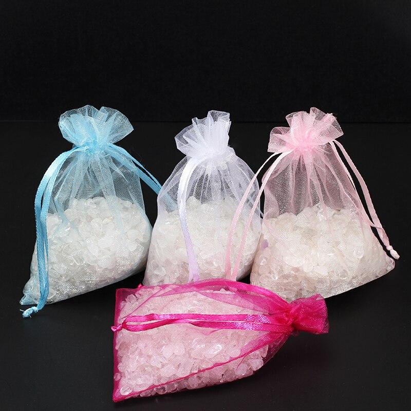 50 шт./пакет 7x9 см, сумки из органзы, маленькие Ювелирные мешочки, украшения для свадебной вечеринки, сумки с вырезом, подарочная упаковка