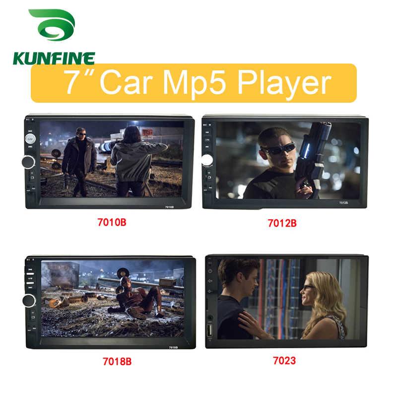 """KUNFINE evrensel 2 Din 7 """"dokunmatik ekran araba multimedya oynatıcı araba radyo araba Stereo MP5 MP3 çalar Bluetooth ile FM/USB/AUX"""