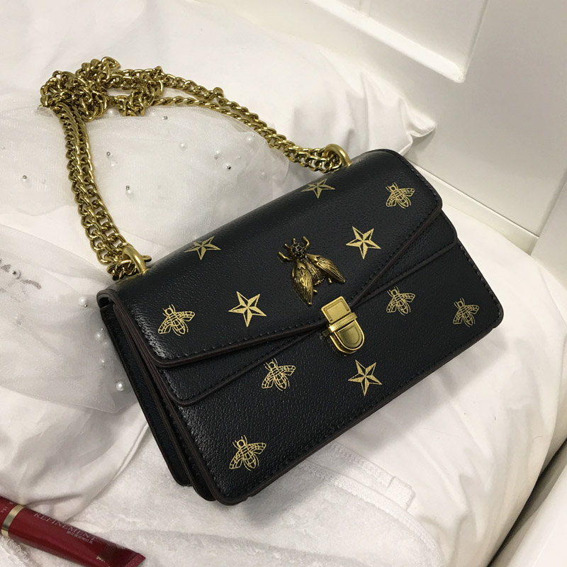 Louis Brand Star Print Bee Metal Buckle Flap Mujer Purse 2020 Women Crossbody Bag Female Bolsa Sac Shoulder Bag Luis Vuiton