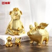 Fashion Little Golden Pig Piggy Bank Piggy Bank Decoration Creative Personality Cute Cartoon Child Piggy Bank Girl Gift