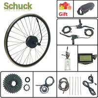 Schuck LCD3 Display 36V500W Rear Hub Motor wheel Electric Bicycle Conversion kit with Spoke and Rim with 16 28 inch 700C