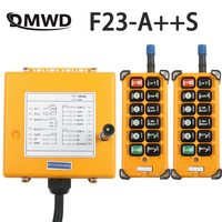 12V 24V 36V 220V 380V Wireless Crane Remote Control F23 A++S Industrial Remote Control Hoist Crane Push Button Switch Yellow