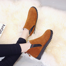 New Women Boots Winter Warm Snow Boots Women Faux Suede Ankle Boots For Female Winter Shoes Botas Mujer Plush Shoes Woman quanzixuan2018 new women boots winter ankle boots female waterproof warm women snow boots women shoes woman warm fur botas mujer