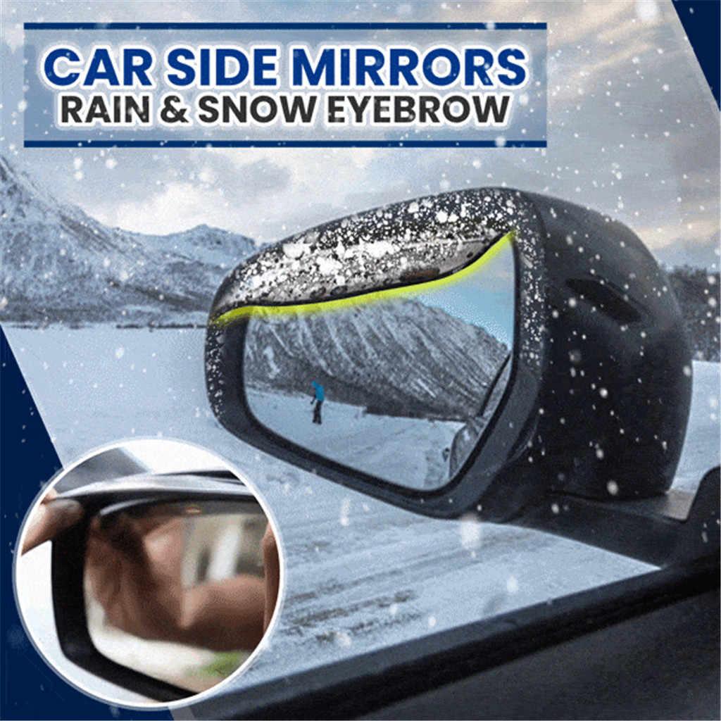 2PC Regen augenbraue Seite Hinten Spiegel Visier Regen Snow Guard Augenbraue Auto Auto Zubehör auto rückspiegel regen schnee augenbrauen 8X