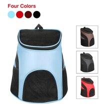 Foldable Pet Carrier Backpack Dog Cat Outdoor Travel Carrier Packbag Nylon Breathable Mesh Pet Backpack Pet Out Bag Cat Backpack mesh panel iridescence backpack