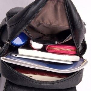 Image 5 - Mochila de cuero para mujer Sac A Dos, mochila de gran calidad para mujer, mochila de diseño de lujo de gran capacidad, mochila informal para niñas