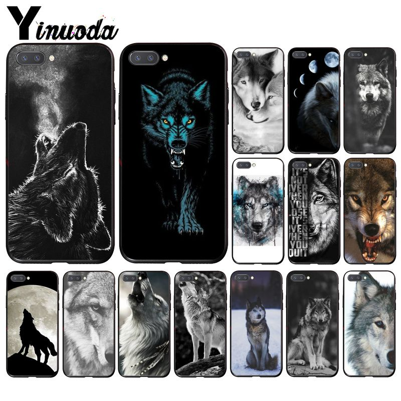Yinuoda Angry Animal Wolf Face Phone Case For Huawei Honor 8A 8X 9 10 20 Lite 7A 5A 7C 10i 20i