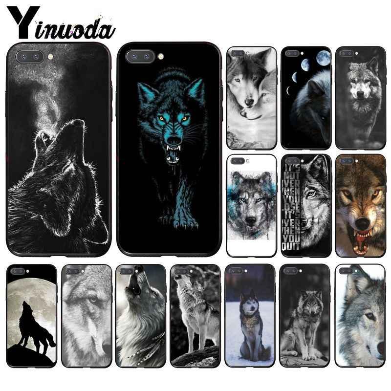 Yinuoda غاضب الحيوان الذئب الوجه الهاتف حافظة لهاتف huawei الشرف 8A 8X9 10 20 لايت 7A 5A 7C 10i 20i