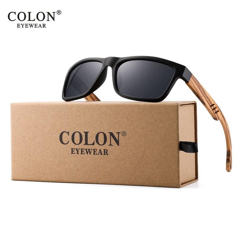 2020 Wood Men Sunglasses Polarized Wooden Sun Glasses for Women Blue Mirror Lens Handmade Fashion UV400 Eyewear Accessories
