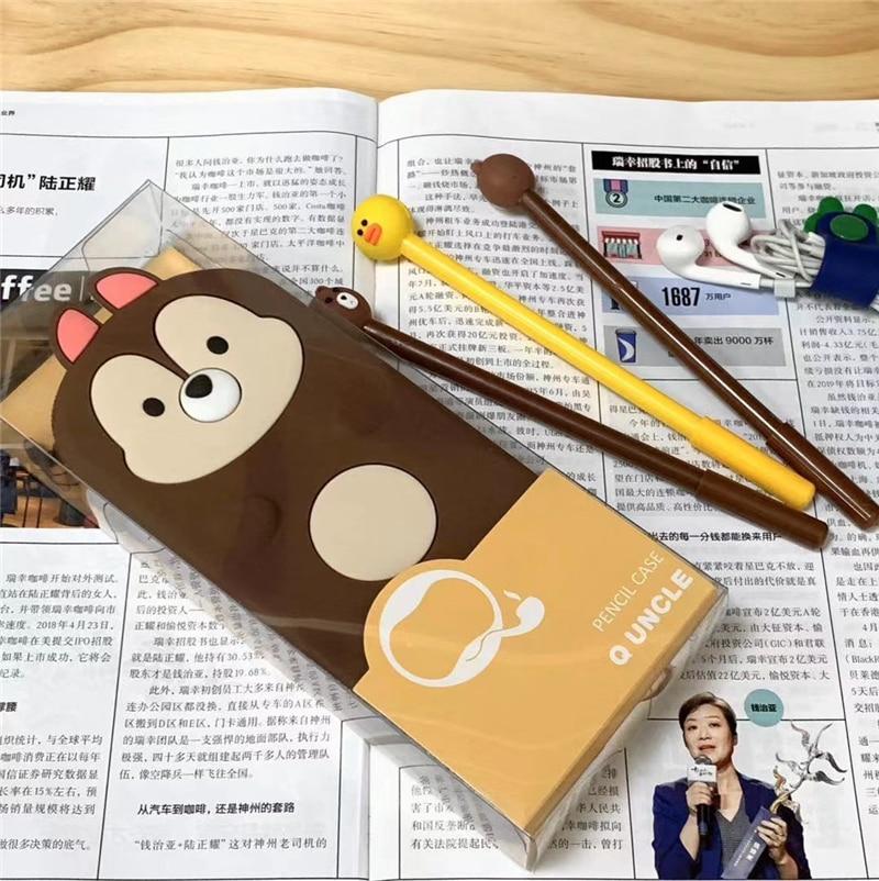 Kawaii Cute Silicone Novelty Box Pencil Case School Student Supplies Pen Box Pen Bag Stationery Storage Bag  Korean Pencilbags|Pencil Bags| |  - title=