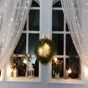 Image 2 - 2/3/6M Vorhang LED String Licht Fee Eiszapfen LED Weihnachten Garland Hochzeit Terrasse Fenster Outdoor string Licht Dekoration
