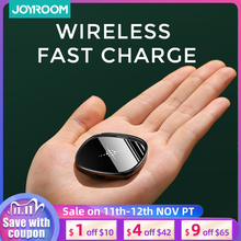 JOYROM 10W Fast Wireless Charger For Samsung Galaxy 20 20 Plus Note 10 Pro W/ USB Cable For iPhone 11 X 8 LED Portable charger
