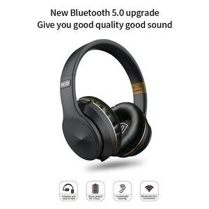 Image 2 - EL B4 블루투스 무선 헤드폰 접이식 스테레오 고품질 사운드 블루투스 스포츠 헤드셋 지원 TF 카드 FM 라디오 AUX 모드