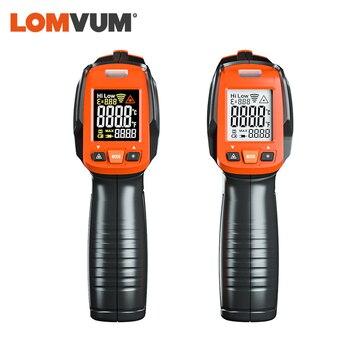 LOMVUM Digital Infrared Thermometer Non Contact Temperature Gun Laser Handheld IR Temp Gun Colorful LCD Display 50-580C Alarm 5