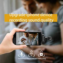 Saramonic SmartMic Di IOS Stereo Digital Condenser Microphone Recording Video Vlog Live Broadcast Mic for iPhone ipad Portable