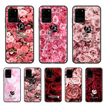French Cosmetics Lancome Rose Phone Case cover hull For SamSung Galaxy S 6 7 8 9 10 20 Plus Edge E 5G Lite Ultra black prime 3D image