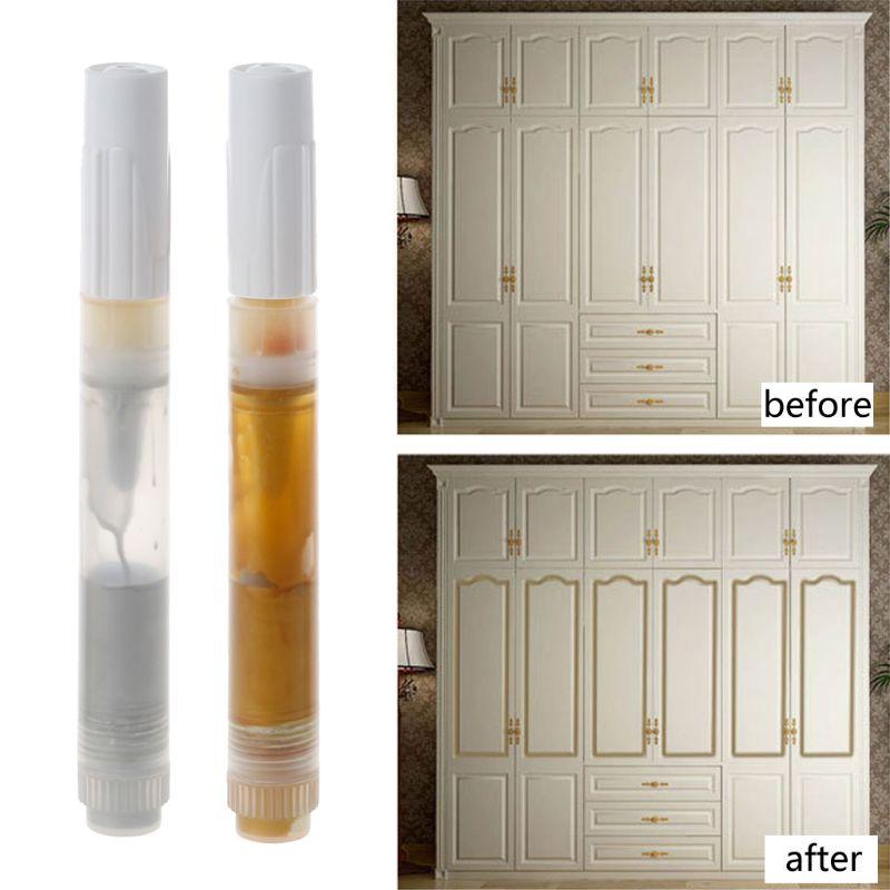 European Furniture Gold Silver Line Painting Pen Metallic Marker Furniture Decor