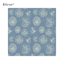 Navy Blue European Style Window Fim Flowers Stained Glass Sticker Frosted  Home Decor Livingroom Door Foil Stickers
