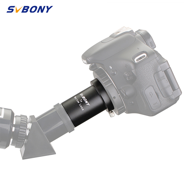 "SVBONY 5X Barlow Lens 1.25"" Metal Thread M42 * 0.75 Pitch for Astronomy Monocular Binoculars Telescope Eyepiece F9130"