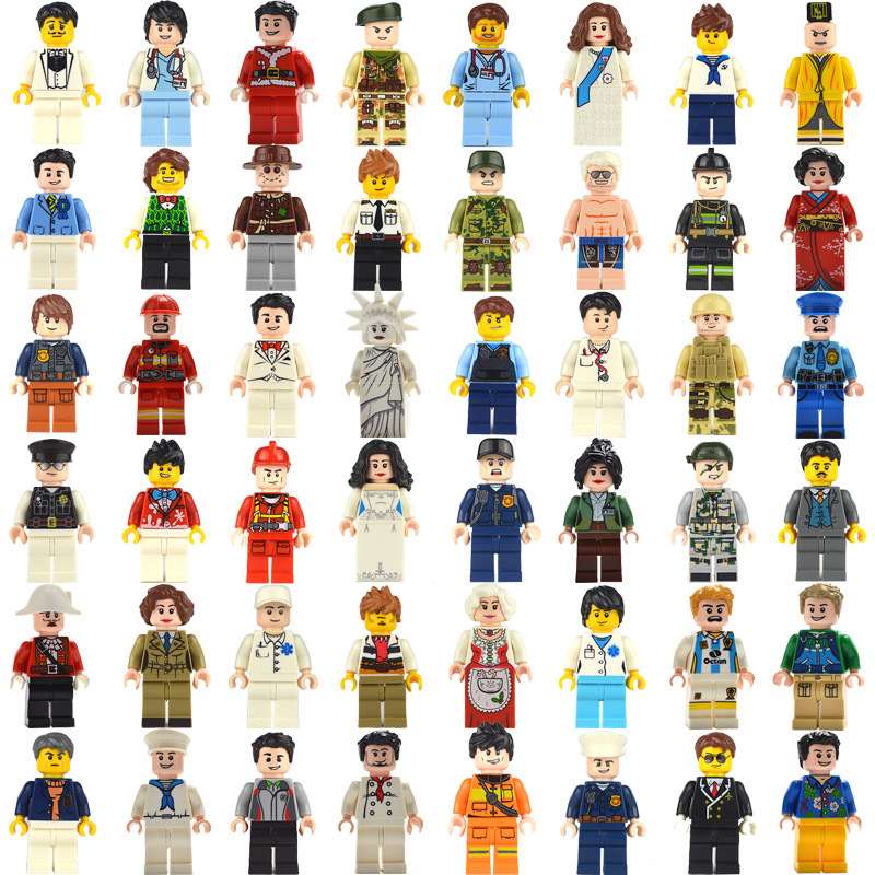 48PCS Compatible Legoing City People Minfigs Set Toys For Children 2020 New Compatible Legoing Friends Figures Lot Toys For Girl