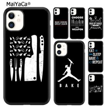 MaiYaCa Love Baking Chef Knife Phone Case Cover For iPhone 5s SE 6 6s 7 8 plus X XR XS 11 pro max Samsung Galaxy S8 S9 S10 shell(China)