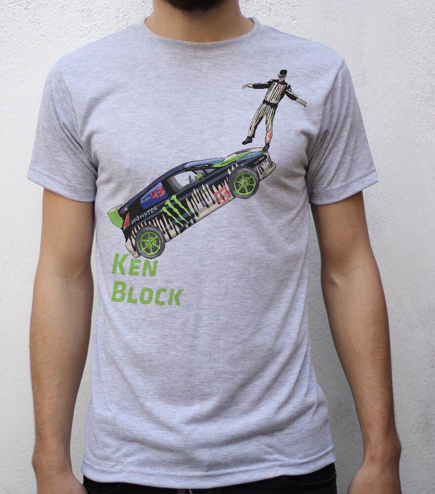 Ken Block T Shirt Artwork Print Men T-shirt Women Tshirt