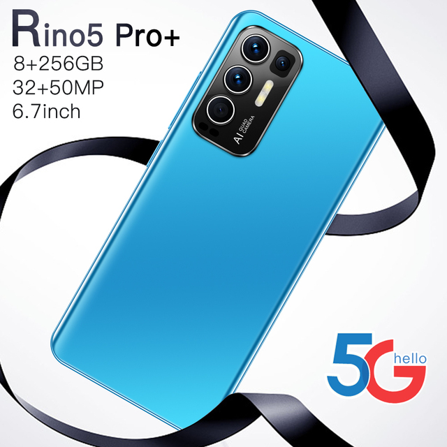 Rino5 Pro+ 12GB RAM 512GB ROM Dual SIM 6.7 Inch Full Screen Deca Core Smart Phone 2021 New Global 6800MAH Face Unlock Android 11 2