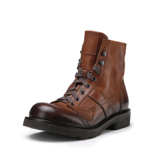 Mens Winter Boots Vintage Work Shoes High Top Wool Military