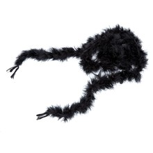 JEYL 6 foot marabou feather boa for Diva Night Tea Party Wedding - Black(China)