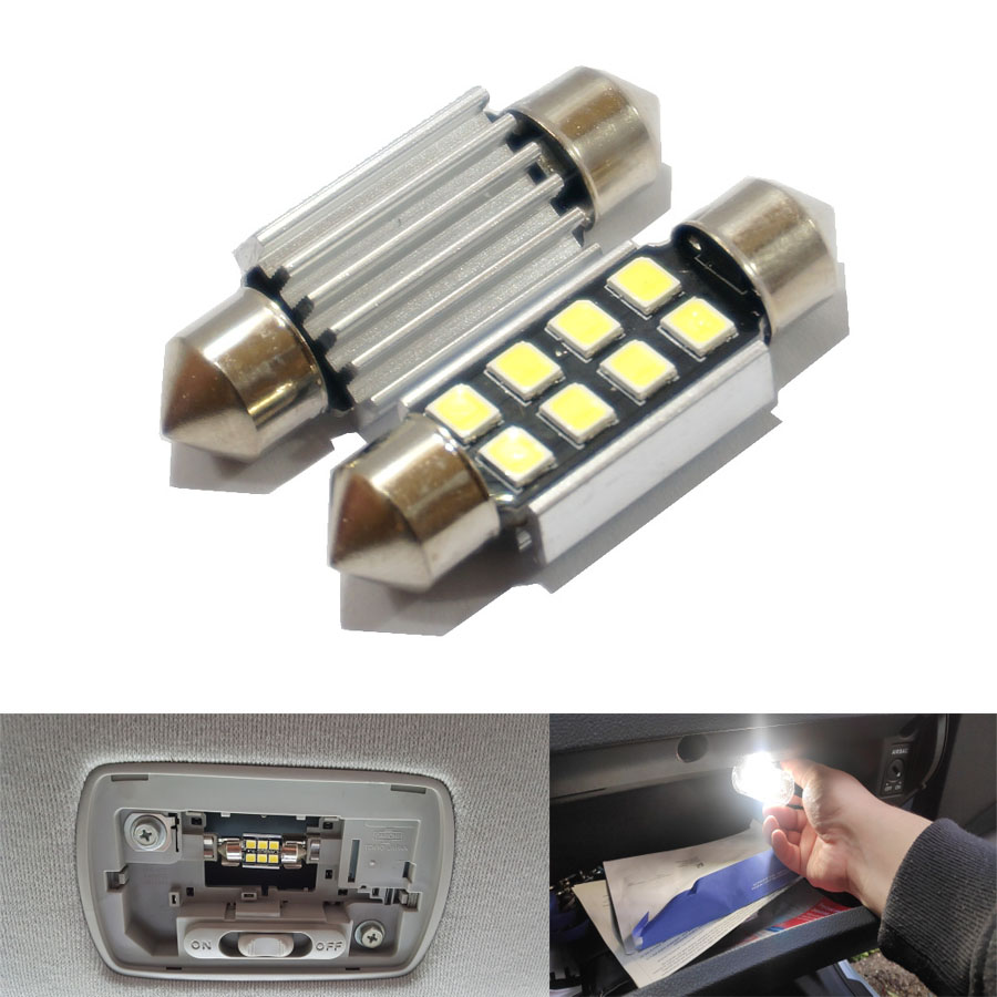 2pcs 31mm 36mm 39mm 41mm SMD 2835 LED White  Dome Festoon Car Light CANBUS Error Free C5W LED Lamp Auto Bulb Interior Light  12V