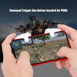 Image 2 - 2Pcs Mobiele Game Controller Gamepad Trigger Doel Knop Joystick Voor Pubg